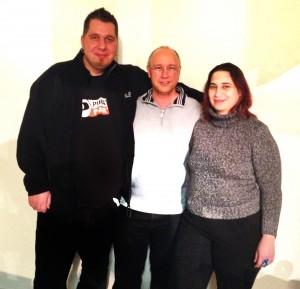 (v.l.n.r.) Christof Grigutsch, Peter Klein, Michaela Sorger